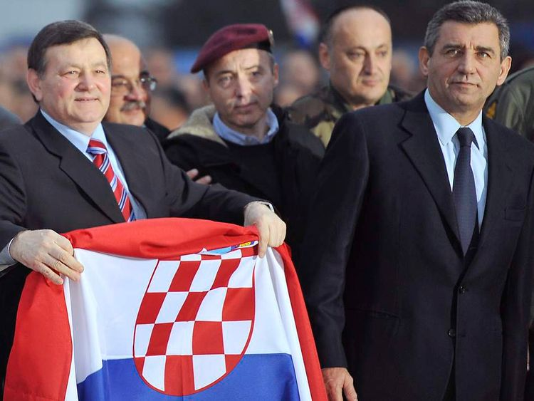 Croatian ex-generals Ante Gotovina (R) and Mladen Markac (L)