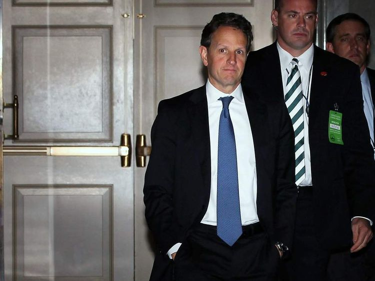 Treasury Secretary Timothy Geithner Meets With Lawmakers On Capitol Hill To Discuss Fiscal Cliff