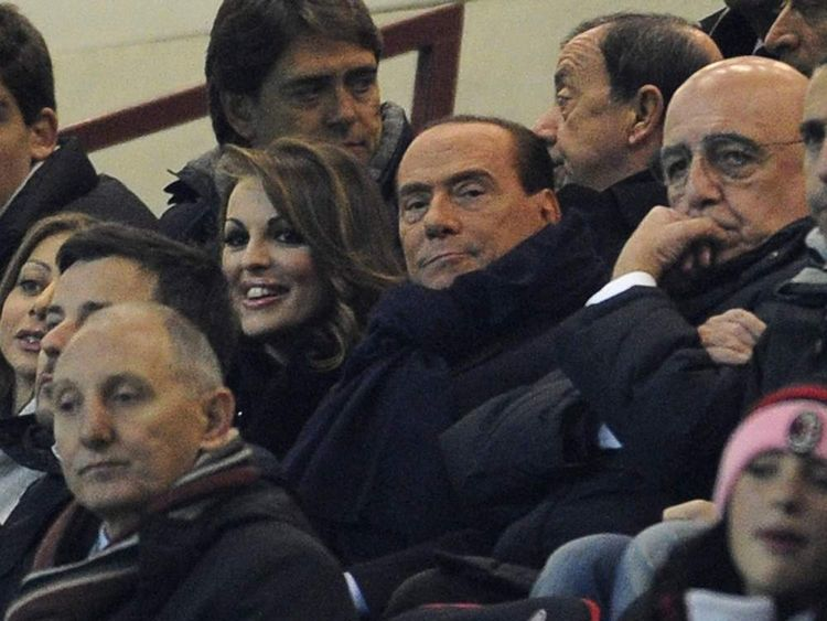 Silvo Berlusconi and Francesca Pascale