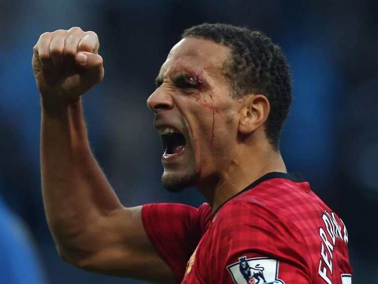 Rio Ferdinand Struck With Object During Manchester Derby