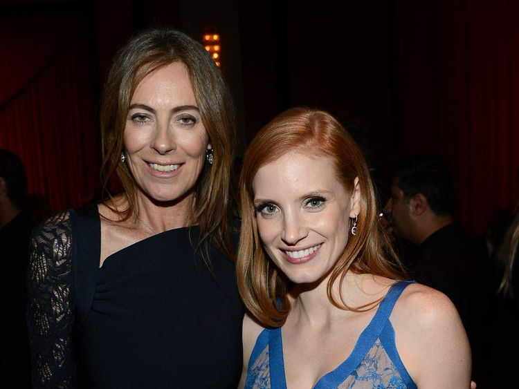 Kathryn Bigelow and Jessica Chastain at Zero Dark Thirty after party