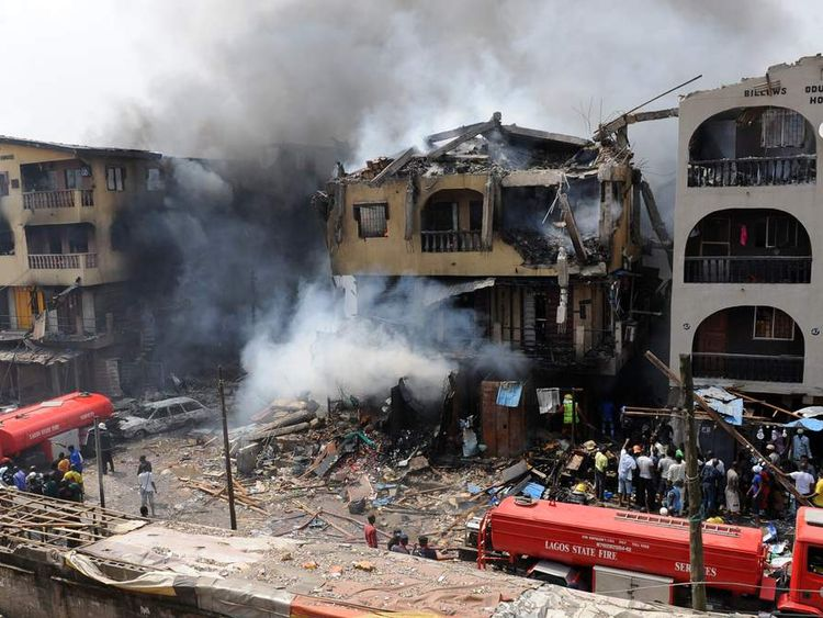 Explosion and fire in Lagos
