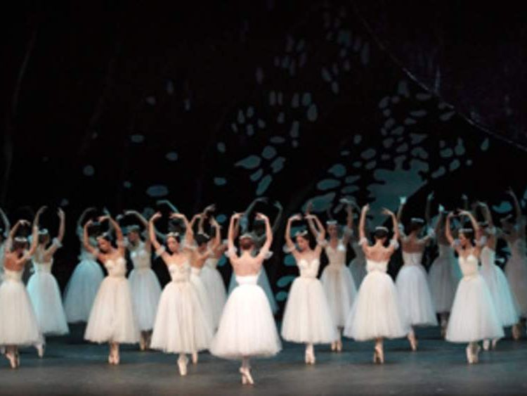 Bolshoi dancers perform the Gisele ballet at the Palais de Beaulieu theater in Lausanne on February 10, 2011.