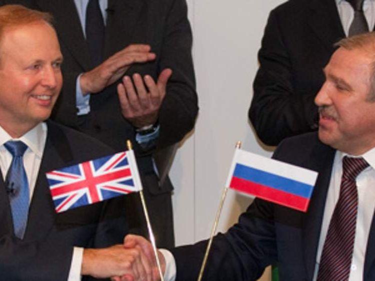 BP Bob Dudley And Rosneft Eduard Khudainatov