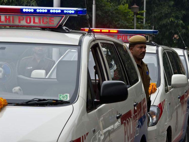 INDIA-CRIME-POLICE-PATROL