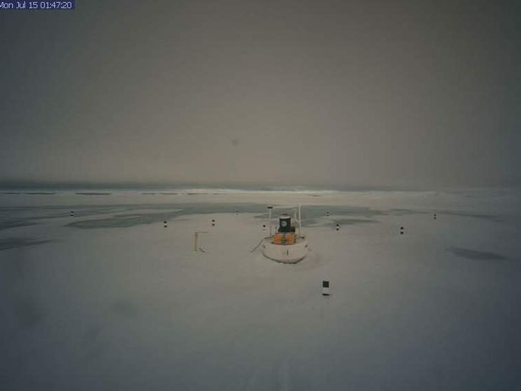 The North Pole on Monday, July 15, 2013