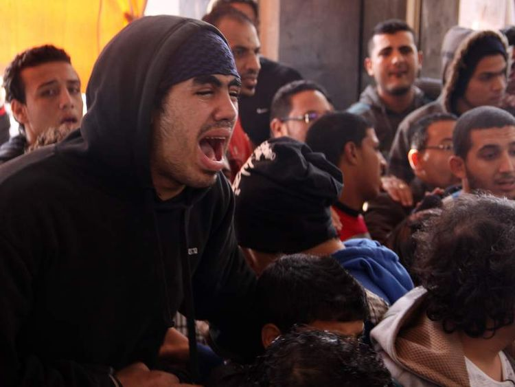 Egyptians react in Port Said to death sentences