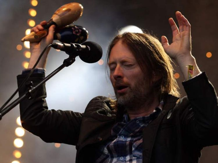 Thom Yorke of Radiohead at Glastonbury