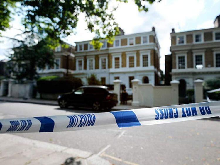 Police tape outside Amy Winehouse's home