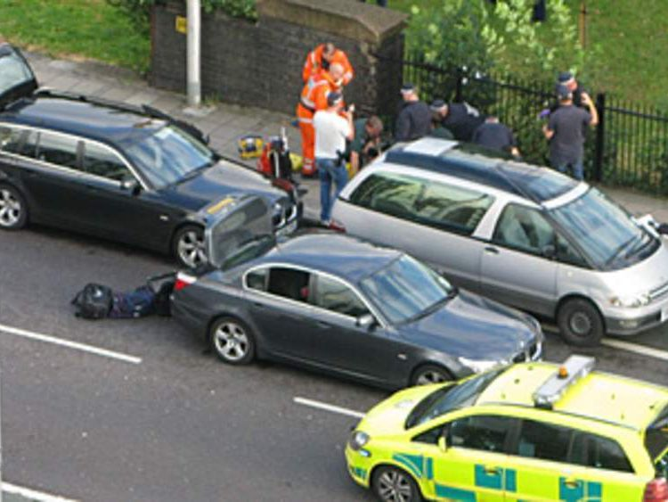 Shooting incident in Tottenham, north London (Pic from Nazreen Bhim-Rao)