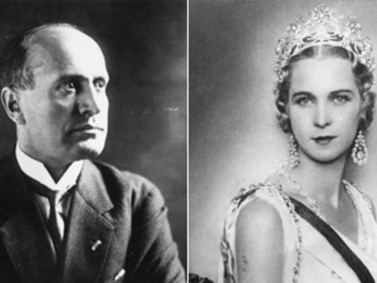 Benito Mussolini had an affair with the last queen of Italy, Maria Jose di Savoia