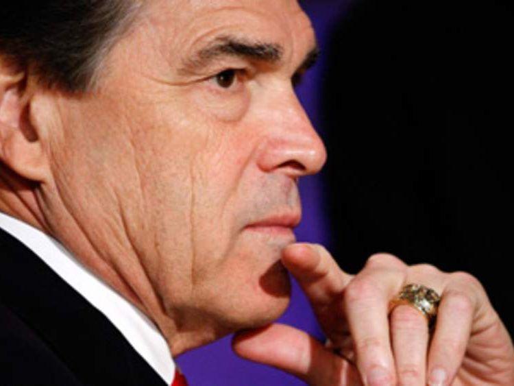 US Republican presidential hopeful Rick Perry