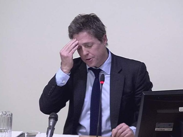 Hugh Grant testifies at the Leveson Inquiry.