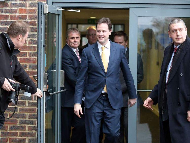 Liberal Democrat Leader Nick Clegg in Eastleigh