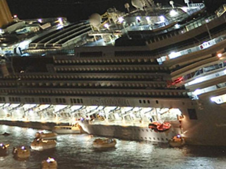 Costa Concordia sinking off the coast of Giglio