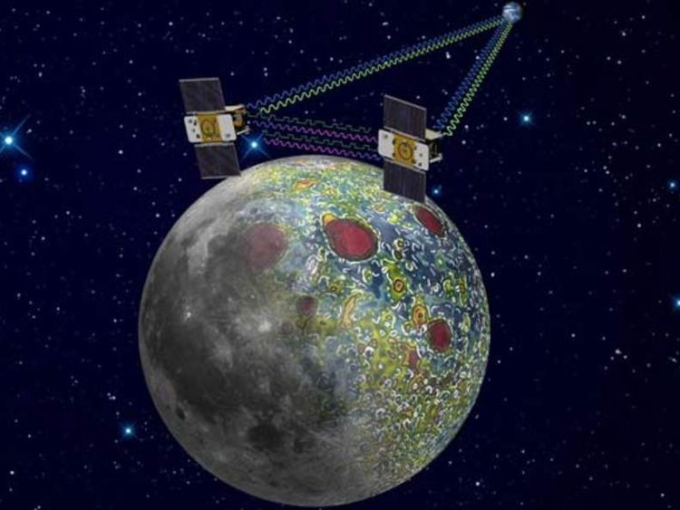 An artist's impression of Nasa's Grail moon probes