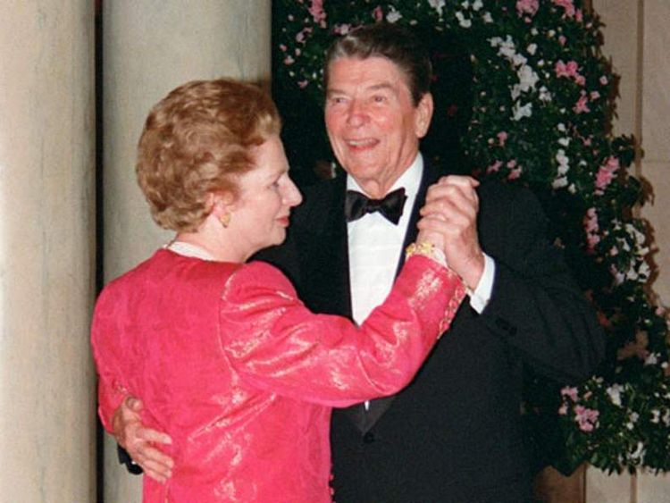 Margaret Thatcher and Ronald Reagan, 1988