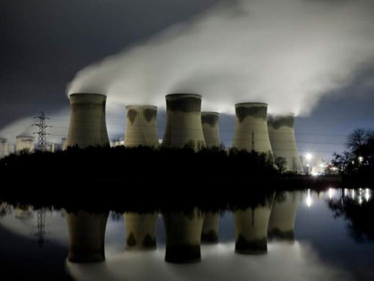 View of Drax power station in North Yorkshire