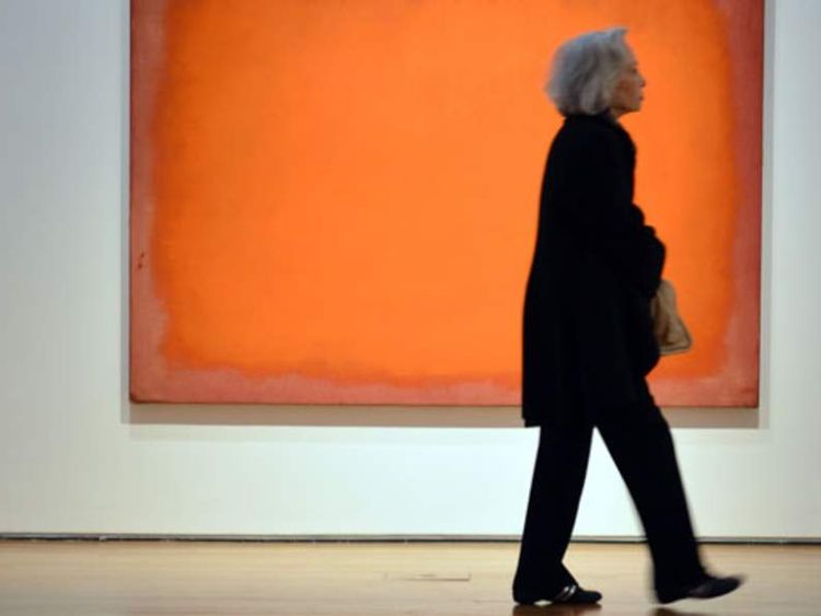Mark Rothko's Orange, red, yellow canvas sold for a record amount