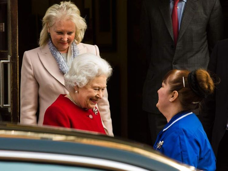 Queen leaving hospital