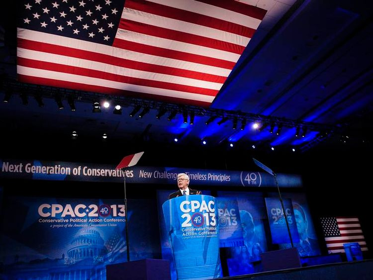 NRA president David Keene addresses the 2013 CPAC in Maryland
