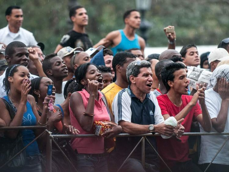 Beyonce and Jay-Z fans in Cuba