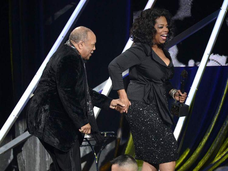 Quincy Jones and Oprah Winfrey