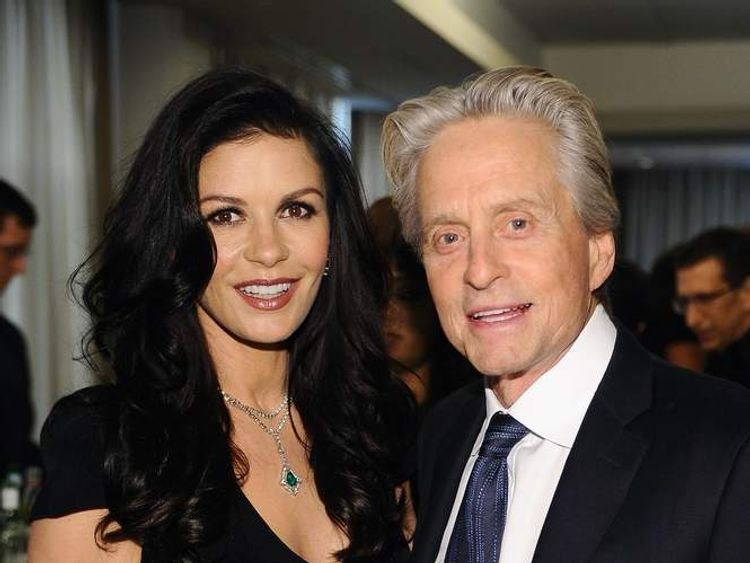Michael Douglas and Catherine Zeta Jones attend the Grey Goose cocktail reception