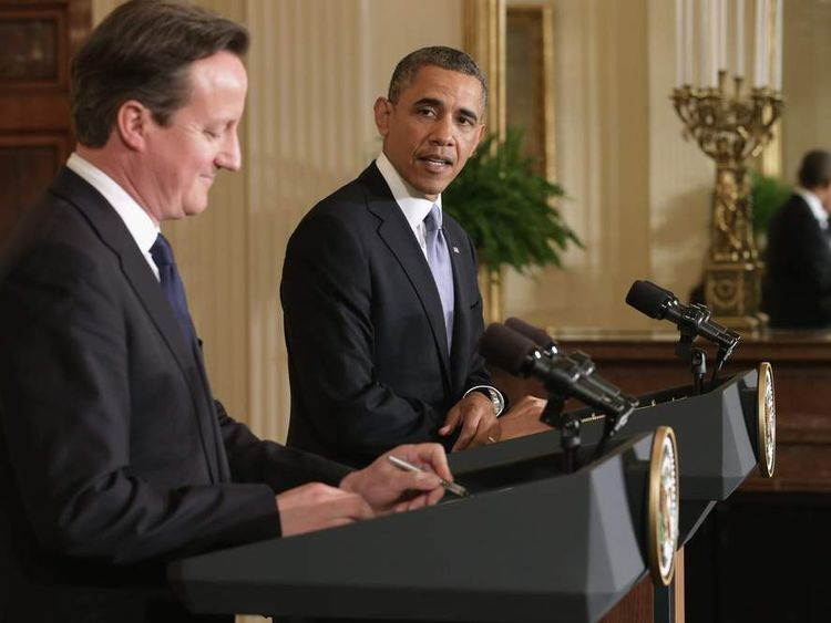 President Obama And UK PM David Cameron Meet At The White House