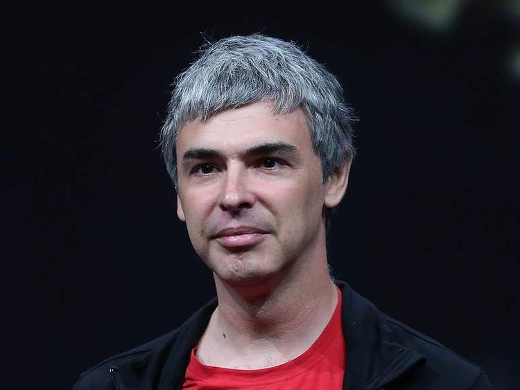 Larry Page, the co-founder of Google and the company's chief executive