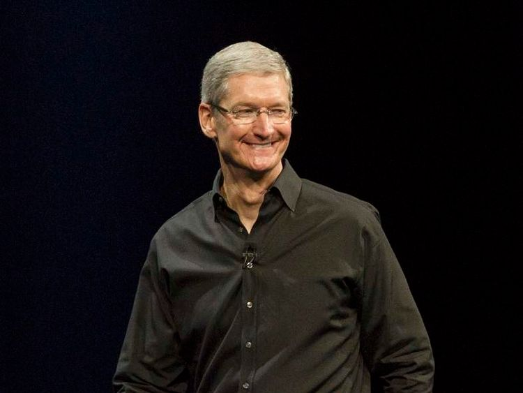Apple CEO Tim Cook during the keynote address during the 2013 Apple Apple Worldwide Developers Conference
