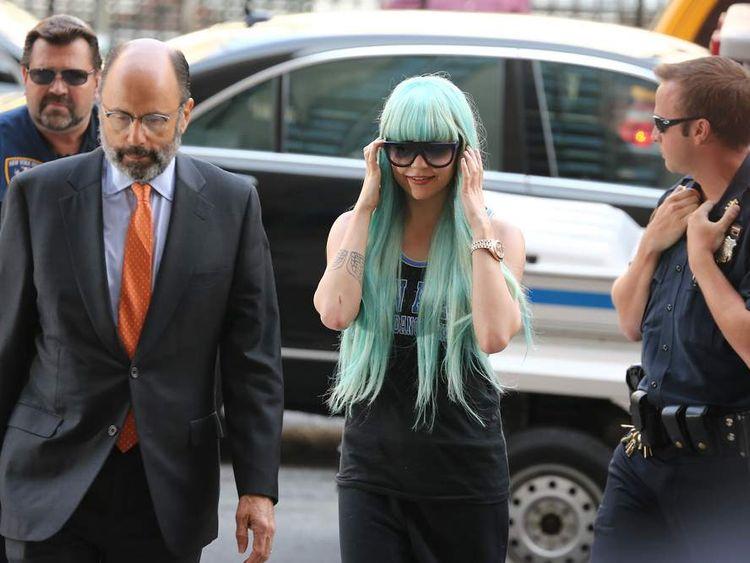 Amanda Bynes Manhattan Criminal Court Appearance - July 9, 2013