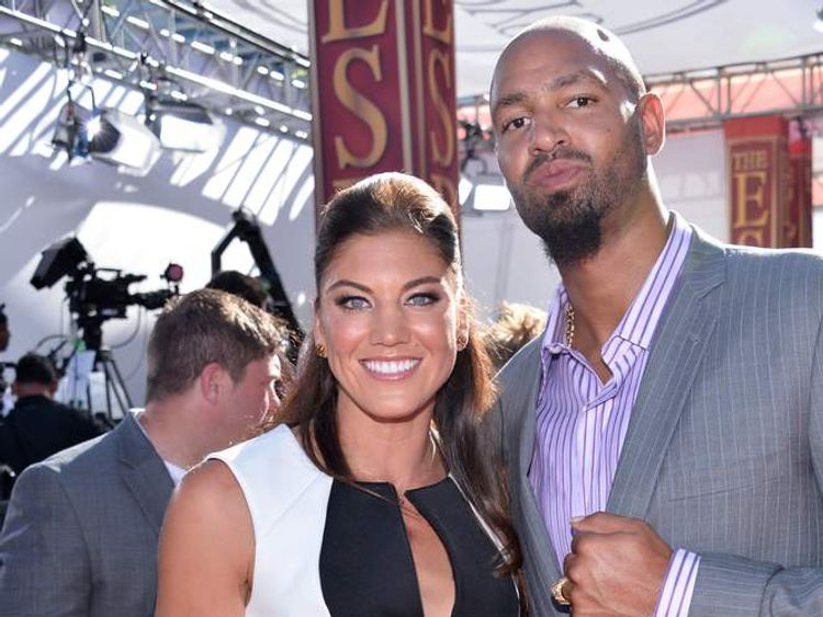 USA soccer player Hope Solo and former NFL player Jerramy Stevens