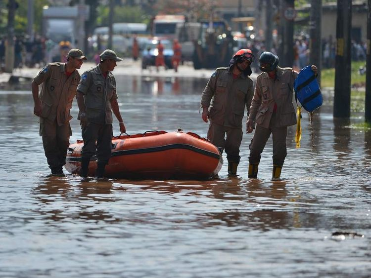 BRAZIL-ACCIDENT-FLOOD