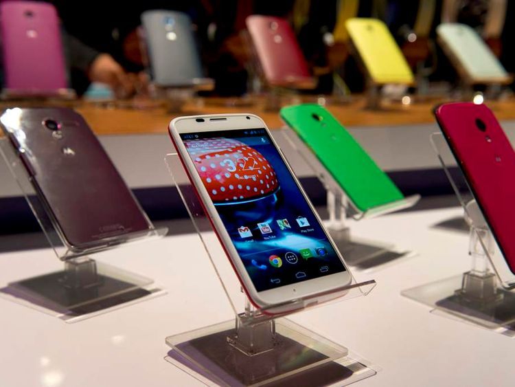 The Motorola Moto X handset