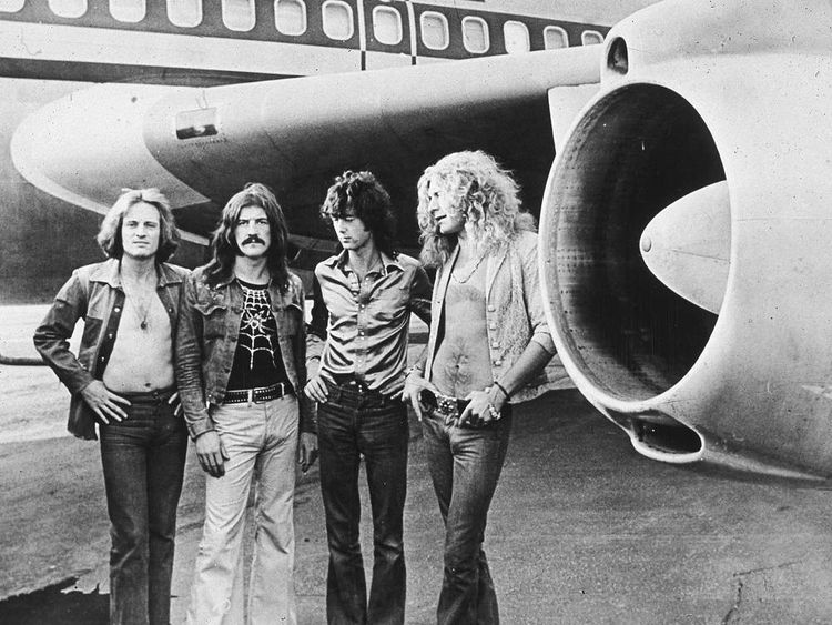 Led Zeppelin in 1973. L-R John Paul Jones, John Bonham, Jimmy Page and Robert Plant