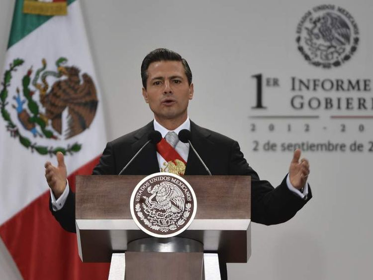 MEXICO-POLITICS-PENA NIETO-ANNUAL REPORT