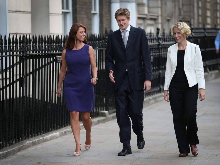 Labour's Gloria de Piero, Tristram Hunt and Emma Reynolds