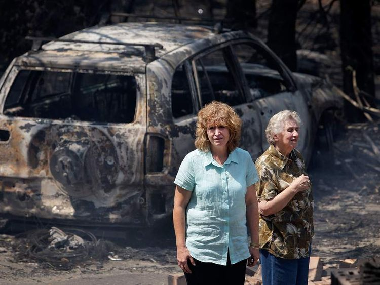 Bushfires ravage New South Wales in October 2013