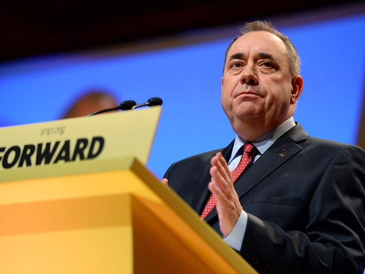 Alex Salmond Makes His Keynote Speech At The SNP Autumn Conference