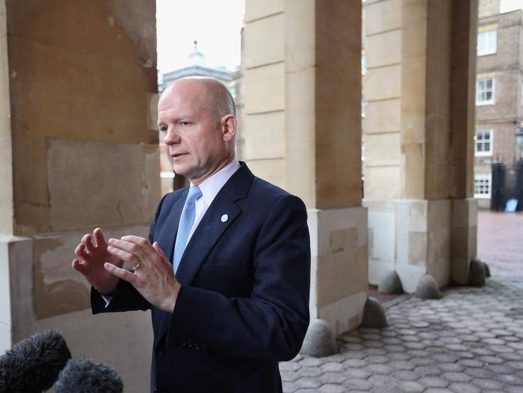 William Hague Syria Talks London