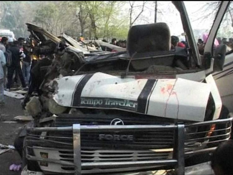 Truck wreckage