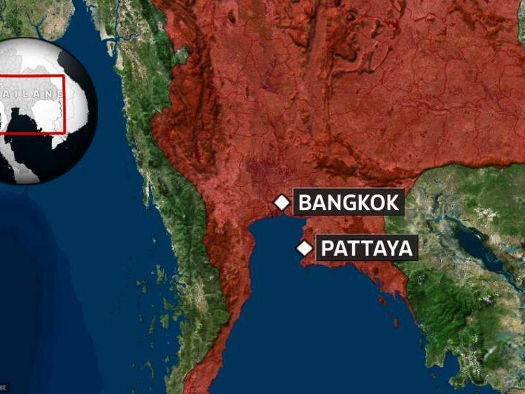 Map of Pattaya, Thailand
