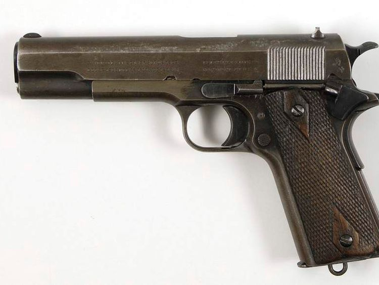 Bonnie and Clyde's Colt .45 gun