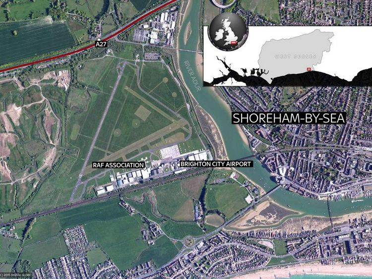 West Sussex Airshow Crash Location