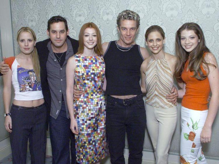 Buffy stars Emma Caulfield, Nicholas Brendon, Alyson Hannigan, James Marsters, Sarah Michelle Gellar and Michelle Trachtenberg