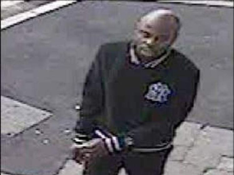 CCTV of the woman's attacker