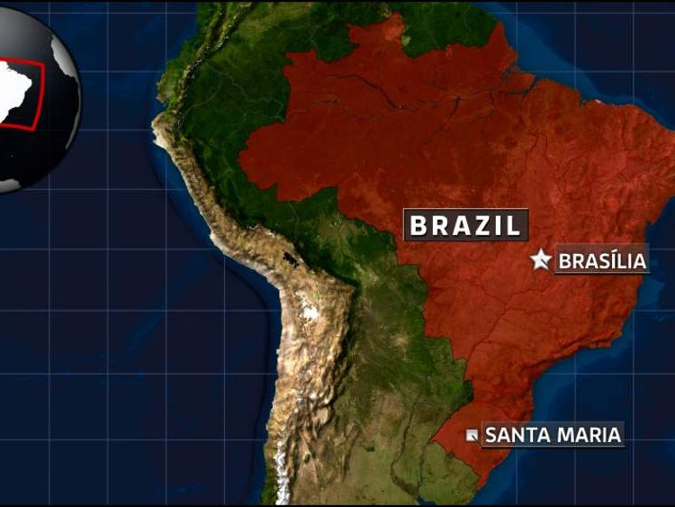 Map of Santa Maria, Brazil