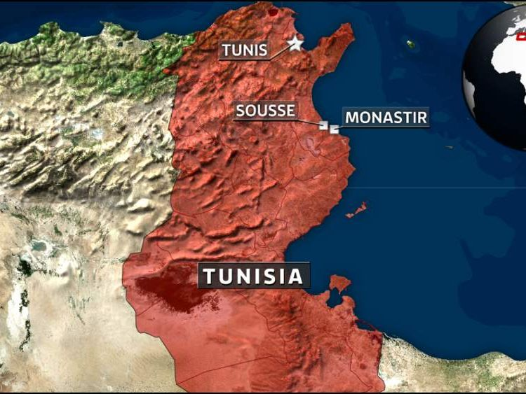 A map of Tunisia