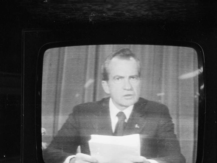 Richard Nixon resigns over Watergate